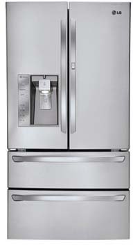 LG LMX30995ST 30.3 Cu. Ft. Stainless Steel French Door Refrigerator - Energy Star