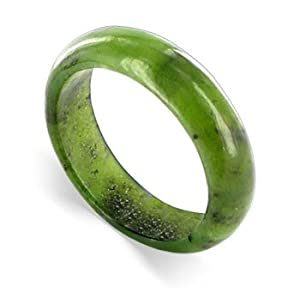 Fragile Olive Jade Band Gemstone Ring Size 4 to 13
