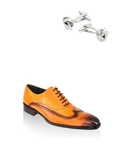 Ortiz&Reed Zapatos Oxford + Gemelos SET-SET-ZCGM-2 Negro