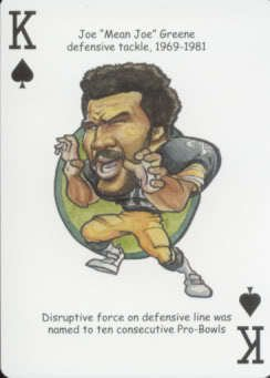 JOE Greene - Oddball Pittsburgh Steelers Playing Card