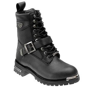 Milwaukee Motorcycle Clothing Company Renegade Leather Men's Motorcycle Boots (Black, Size 10.5D)