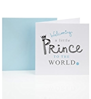 Little Prince Baby Boy Greetings Card