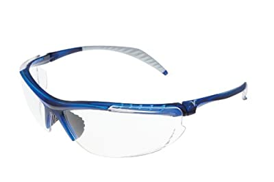 Encon Wraparound Veratti 307 Safety Glasses, Clear Lens, Translucent Blue Frame (Pack of 1)