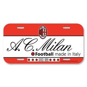 AC Milan 6 X 12 License Plate