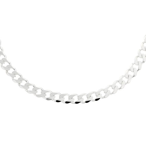 Men's Plain Necklace, Silver Chain, 51cm Length, Model SC316/20