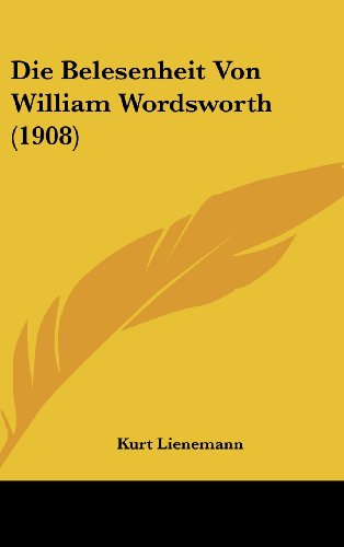 Die Belesenheit Von William Wordsworth (1908)