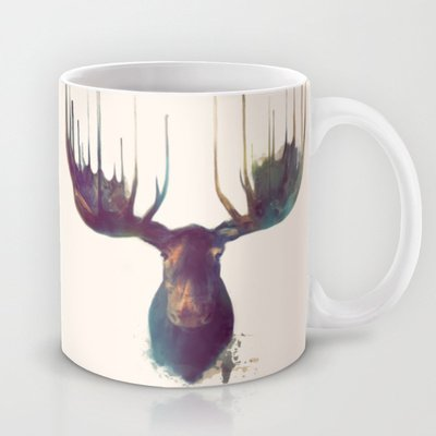 Society6 - Moose Coffee Tea Mug By Amy Hamilton