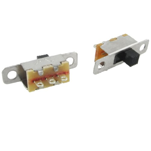 5 Pcs x On-Off 2 Position SPDT 1P2T Panel Mini Slide Switch Solder Lug SS12F15G3 (Spdt Slide Switch compare prices)