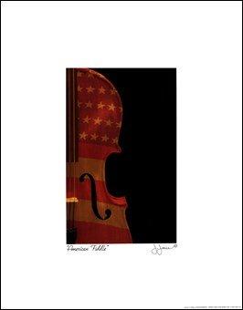 American Fiddle High Quality Museum Wrap Canvas Print John Jones 11X14
