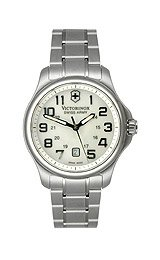 Victorinox Swiss Army Officer's Steel Bracelet White Mother-of-Pearl Dial Women's Watch #241365