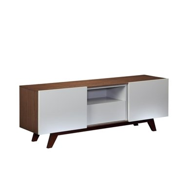 Cheap Furnitech FT70R 70″ Modern TV Stand Media Console in Italian Veneer and Light Grey High Gloss (FT70R)