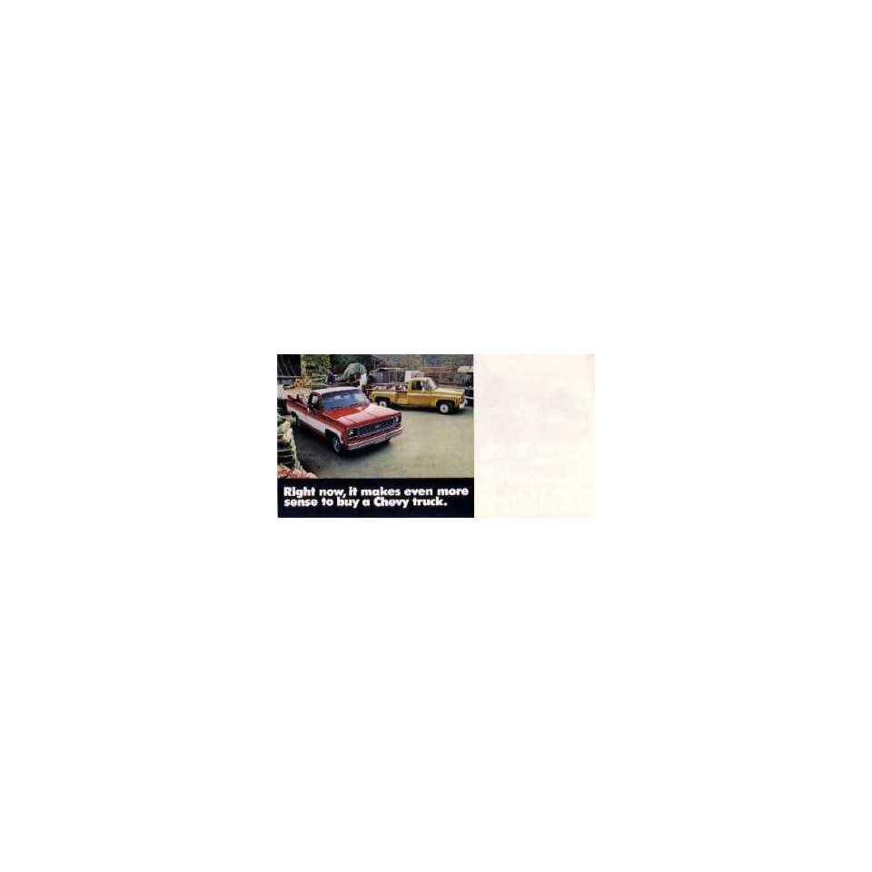 1974 Chevrolet Truck Sales Brochure Literature Book Colors Options Specification Automotive