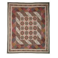 """Country Roads Quilt King 105""""x 95"""" QKCROA by Patch Magic"""