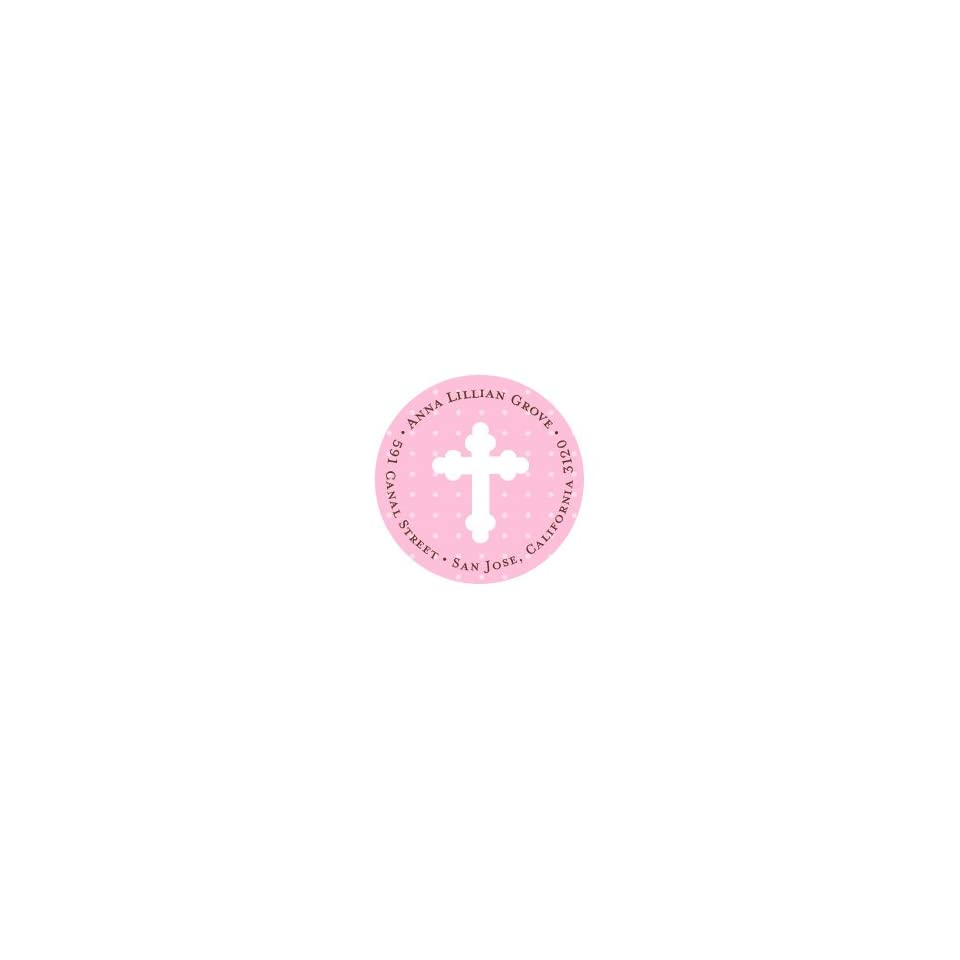Pink Polka Dots with Cross Stickers