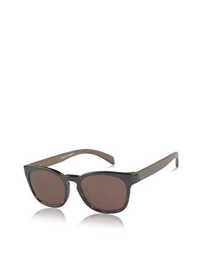 Ivory + Mason A3206 Bond Sunglasses, Dark Tortoise/Walnut