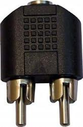 CLASSYTEK CT-98331 2 RCA Male to 3.5 mm Stereo Female Jack Audio Connector - Black