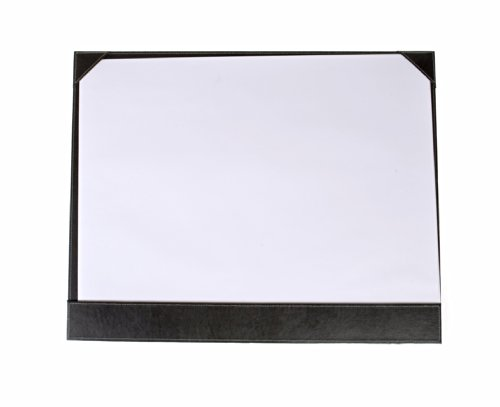 Osco Faux Leather Desk Mat Full Demi with 10 Sheets of Plain White Paper - Color: Brown