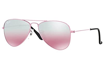 Ray-Ban Kids RJ 9506S Pink Mirror Aviator Sunglasses Authentic + Free Gift