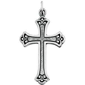 14-k-oro-blanco-14-k-amarillo-oro-o-plata-de-ley-budded-cross-pendant