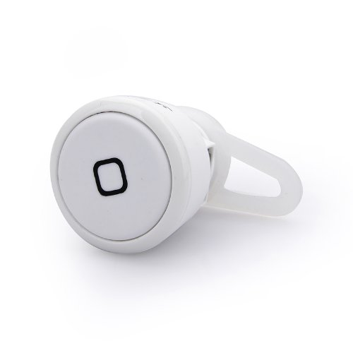 New Worlds Smallest Universal Wireless Bluetooth Headset Earphone, Handsfree, For Iphone, Android, Samsung, And Bluetooth Capable Cell Phones, White