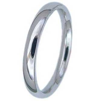 2MM High Polished Stainless Steel Wedding Band