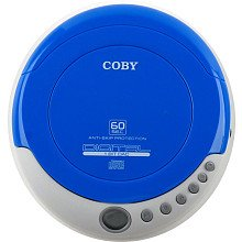 Coby CXCD329 Slim Personal CD Player with Anti-Skip Protection (Blue)