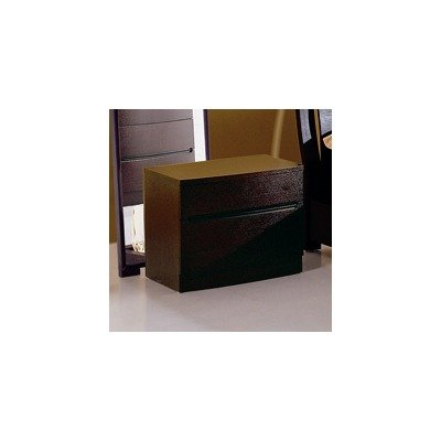 Bh Design 2-Drawer Night Stand, Espresso front-694328
