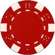 Buy Bargain 25 Clay Composite Dice Striped 11.5 gram Poker Chips, Red