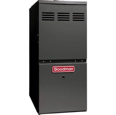 Goodman Gmh80803Bn Gas Furnace, Two-Stage Burner/Multi-Speed Blower, Upflow/Horizontal - 80,000 Btu