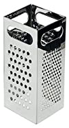 NEW, Four (4) Side Stainless Steel Box Grater, Cheese Grater, Vegetable Grater, Slicer, Commercial…