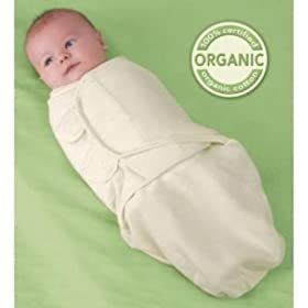Kiddopotamus & Co. Organic Cotton SwaddleMe - Ivory