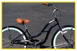 Anti-Rust aluminum frame, Fito Brisa Alloy 3-speed - Midnight blue/Turquoise, women's Beach Cruiser Bike Bicycle, Shimano Nexus Equipped