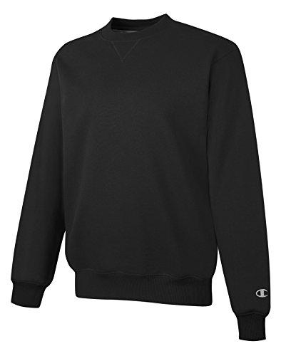 Champion 9.7 oz.; 90/10 Cotton Max Crew - BLACK - XL (Champion 90 10 Sweatshirt compare prices)