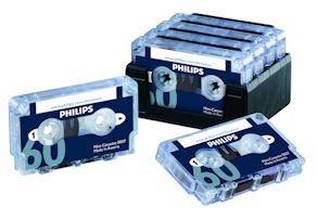 Philips LFH0007 10 Pack 60-Minute Mini Cassette Tape – 10-Pack