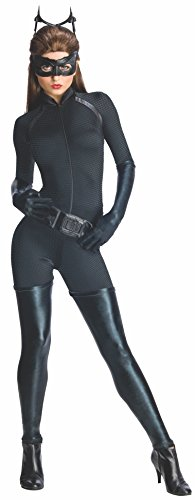 Secret Wishes Batman Dark Knight Rises Adult Catwoman, Black, Large