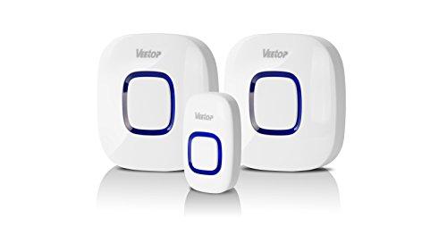 Sonnette de porte sans fil veetop wireless doorbell pour - Sonnette sans fil longue portee ...
