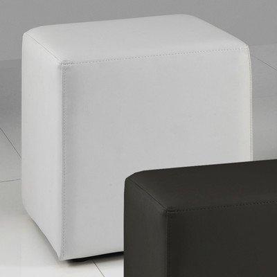Meise Möbel 514-80-00000 Würfel Cube mit Kunstlederbezugbezug, weiß