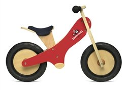 Kinderfeets Chalkboard Balance Bike - Eco Friendly Forest Stewardship Council Certified (Red Chalkboard)