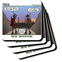 Knots Hiking Adventure - Real Adventure - Set Of 4 Ceramic Tile Coasters