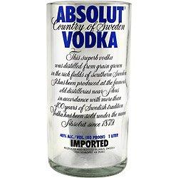 Absolut Vodka Glass Recylcled Bottle Tumbler - 30 oz.
