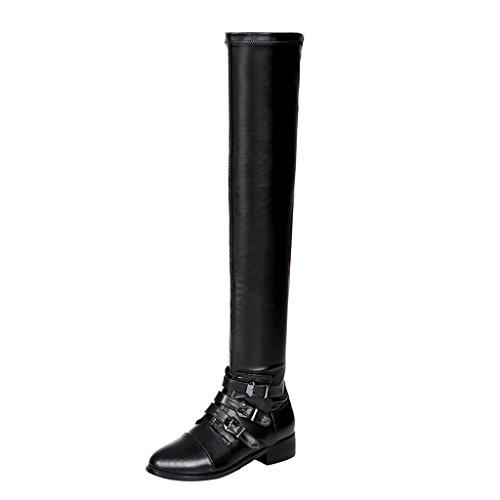 elehot-femme-elephone-bloc-3cm-cuir-souple-bottes-noir-345