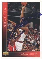 LaPhonso Ellis Denver Nuggets 1994 Upper Deck Autographed Hand Signed Trading Card. by Hall+of+Fame+Memorabilia