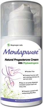menopause and natural progesterone Natural progesterone cream (about ¼ teaspoon or 20 milligrams applied to the skin and forearms 2-3x daily): progesterone cream is a natural way to reduce menopausal symptoms such as loss of bone density, vaginal dryness and fibroids it has many benefits even for younger women (those going through perimenopause, for example) including.