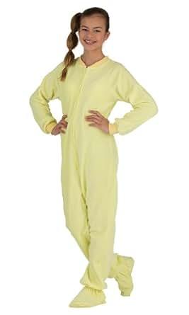 Amazon Com Footed Pajamas Mellow Yellow Kids Fleece Clothing