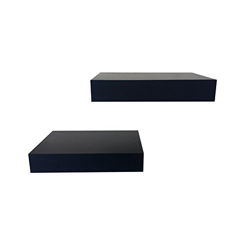 SHELVING SOLUTION Floating Shelf (Black, 11