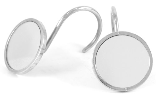 Retro Mirror Shower Curtain Hooks Rings 12 Pieces