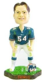 Buy Low Price AWM Miami Dolphins Zach Thomas Game Worn Forever Collectibles Bobble Head Figure (B000VUTXLQ)