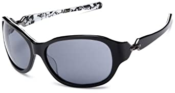 Oakley Women's Abandon Sunglasses,Black Plaid Frame/Grey Lens,one size