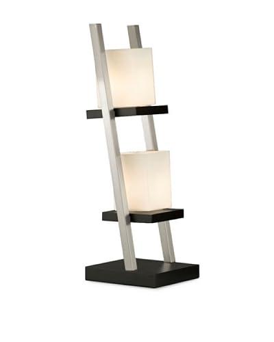 Nova Lighting Escalier 2-Light Table Lamp, Dark Brown/Silver
