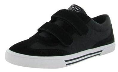 Coach Womens Priya Jacquard Suede Fashion Sneakers Black 8.5 Medium (B,M)